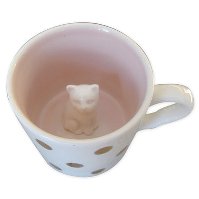 House of Disaster Spotty Cat Cup