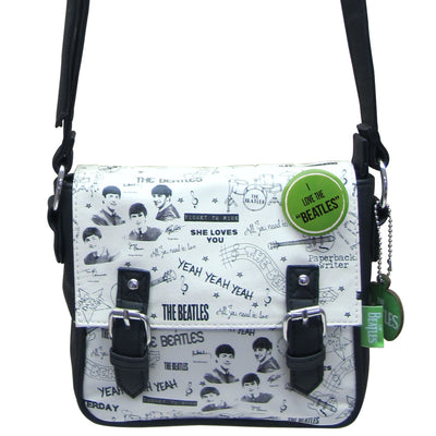 House of Disaster The Beatles Graffiti Mini Bag