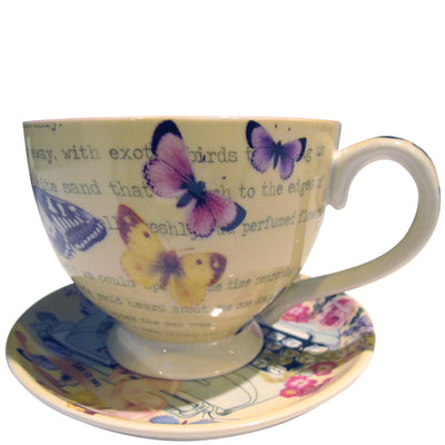 House of Disaster Type Write Tea Cup