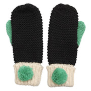 Loop Black Mittens