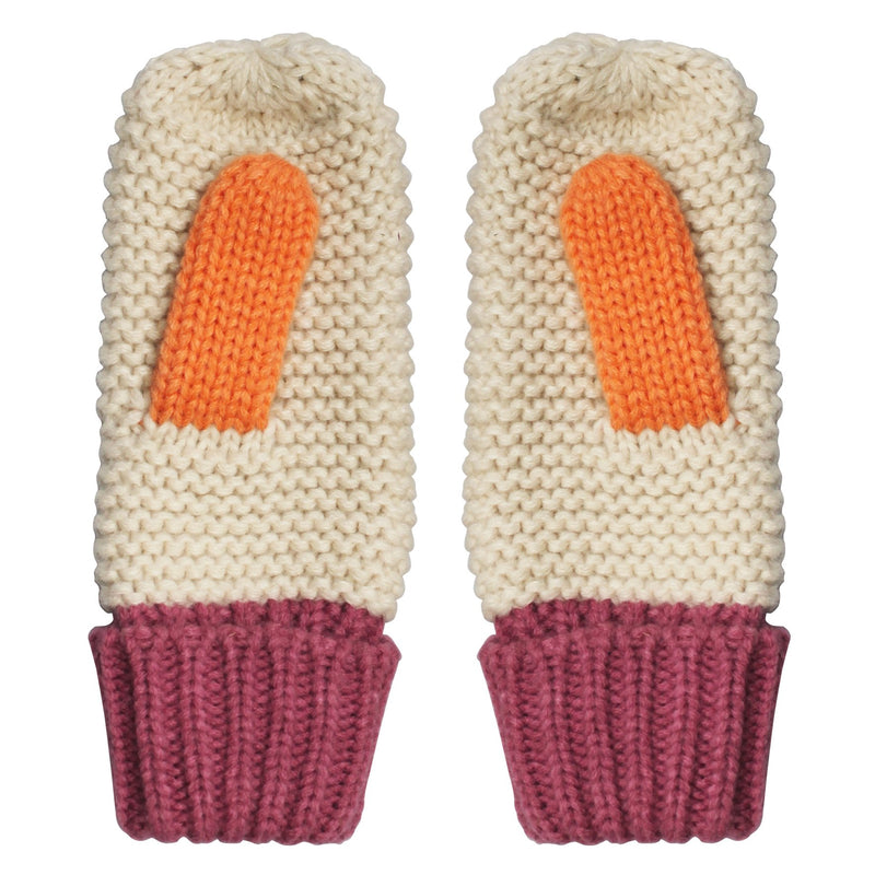 Loop Cream Mittens