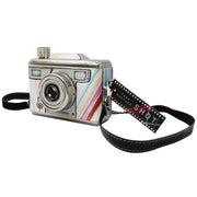 Multicoloured Camera Hip Flask