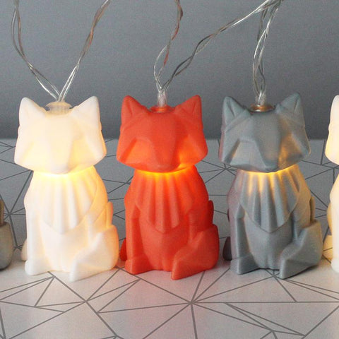 Multicoloured Fox String Lights