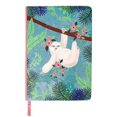 Over The Moon Sloth Notebook