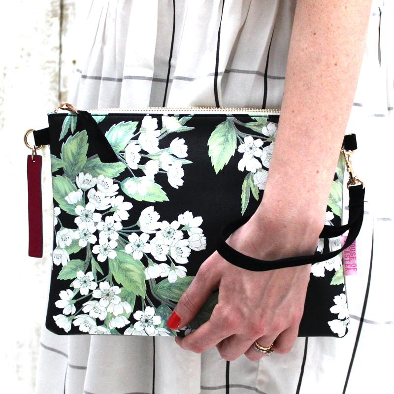 Petal 'Night' Clutch Bag