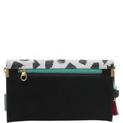 Paint Black Clutch Bag