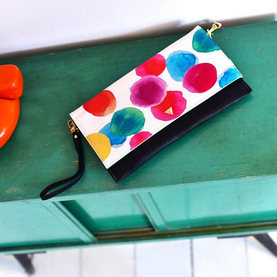 Paint Spotty Clutch Bag