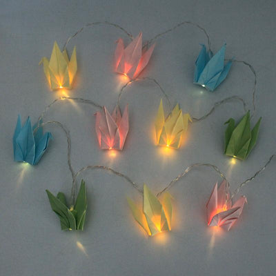 Paper Origami Bird String Lights