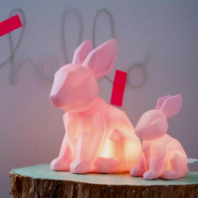 Pink Rabbit Lamp