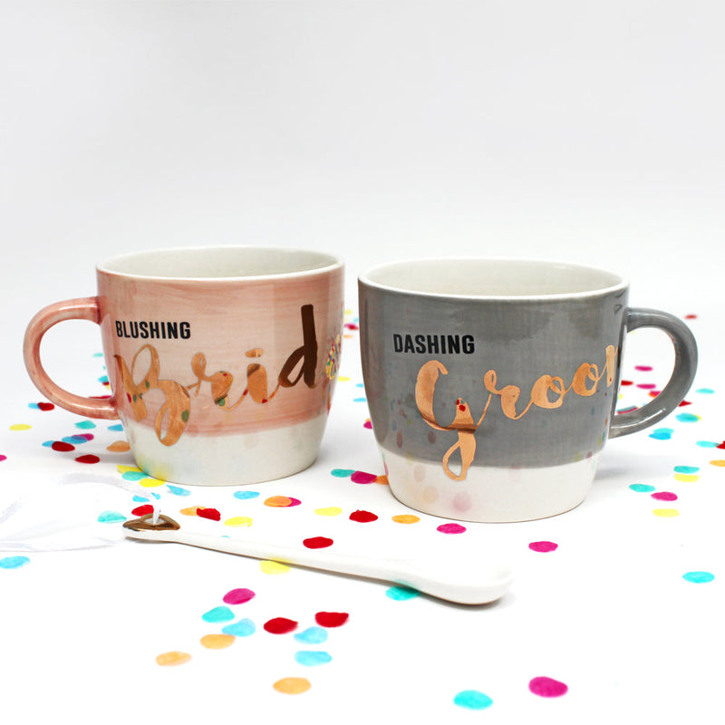 Ta-Daa Set Of 2 Cups (Bride & Groom)