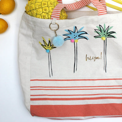 Sherbet Palm Tree Tote Bag