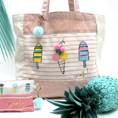 Sherbet Ice Cream Tote Bag