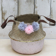 Casa Woven Small Pink Storage Basket - House of Disaster