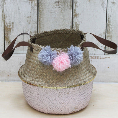 Casa Woven Small Pink Storage Basket