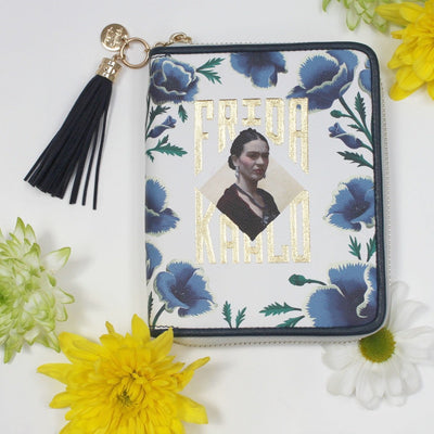 Frida Kahlo Wallet Blue - House of Disaster