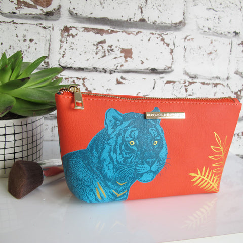 Heritage and Harlequin Tiger Make up Bag