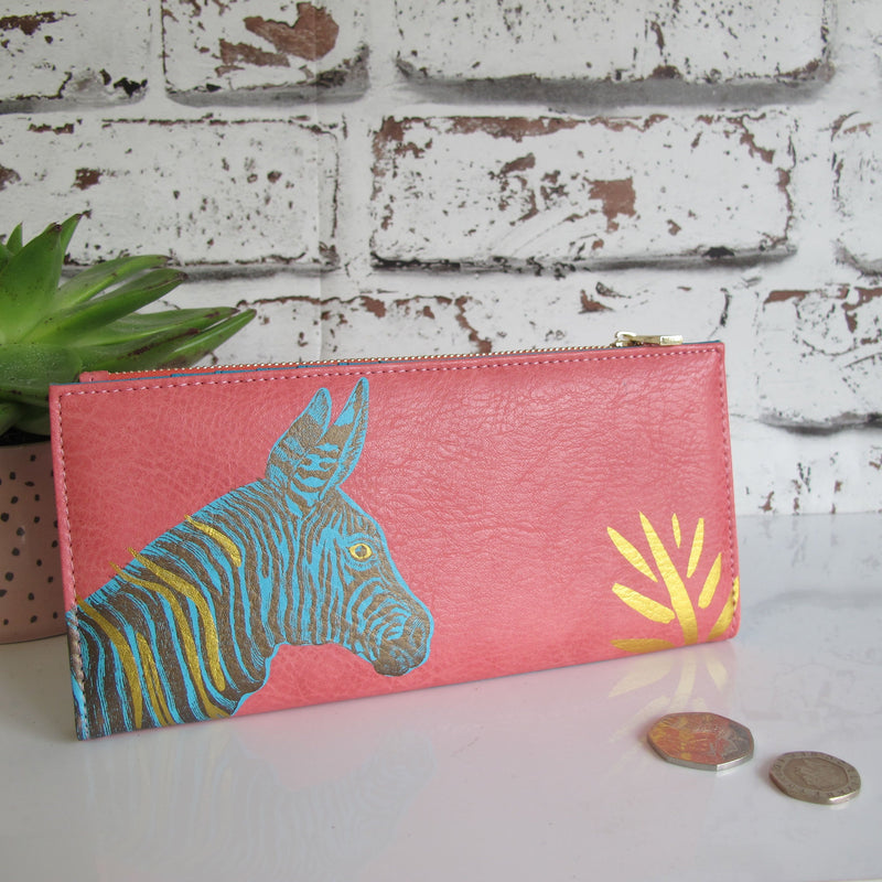 Heritage And Harlequin Zebra Wallet