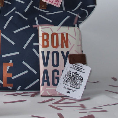"Jet Lag ""Bon Voyage"" Travel Wallet"