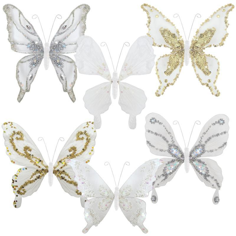 Paper Butterfly Clip - White