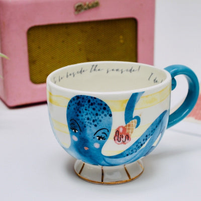 By The Sea Octopus Tea Cup With Gift Box - House of Disaster