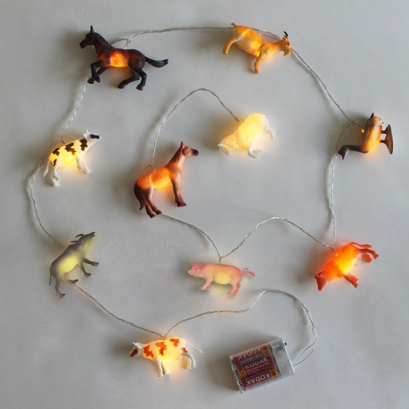 String Lights With Farm Animals