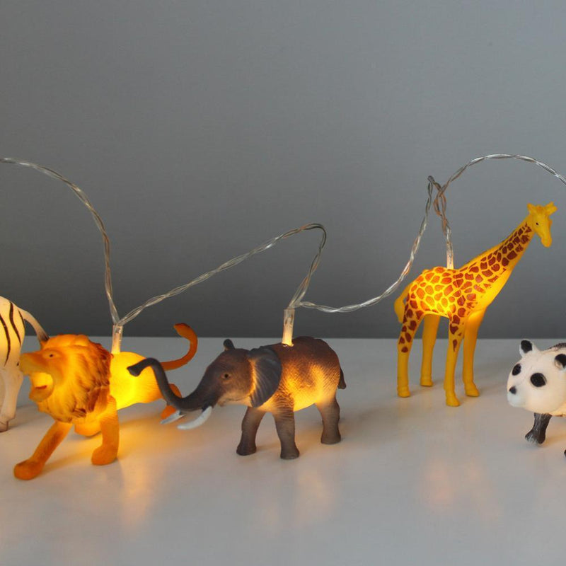 String Lights With Safari Animals