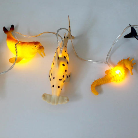 String Lights With Sea Creatures