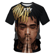 Rapper lil peep and xxxtention digital print T-shirt