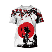 Children's clothing Dragon Ball digital printing leisure large size medium and large children's T-shirt