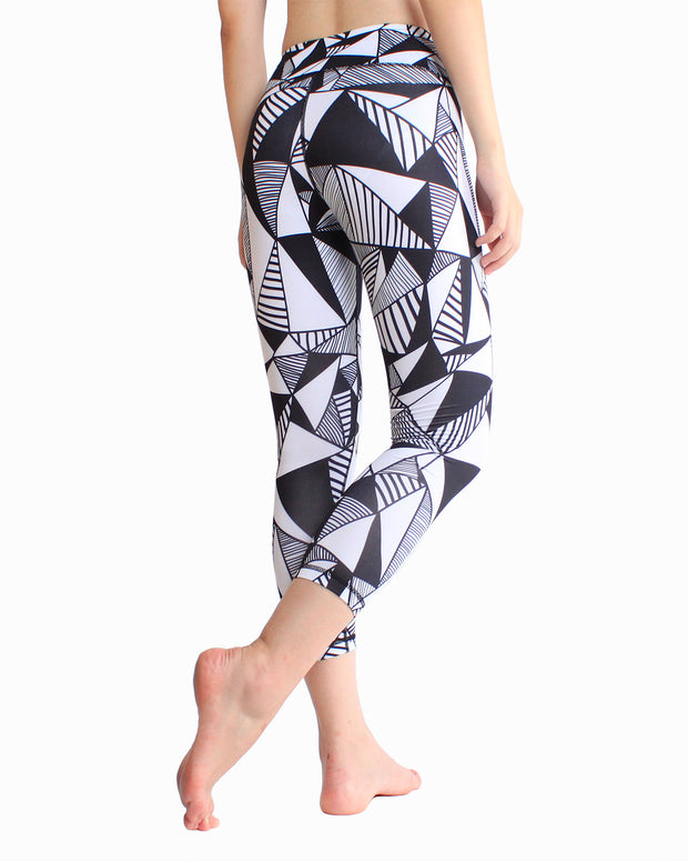 Yoga Pants printed elastic quick drying Capris fitness pants
