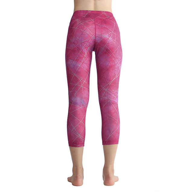 Printed Yoga Pants running fitness Pants Capris