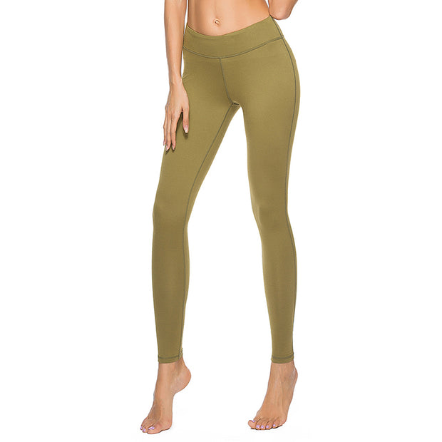 Exercise Fitness Yoga Pants running elastic high waist Capris