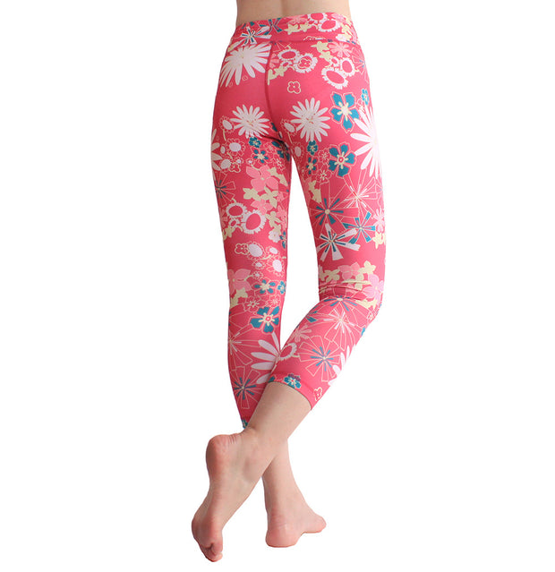 New printed Yoga Pants European and American fitness pants