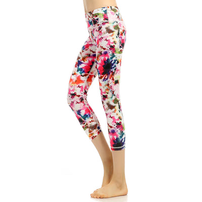 Printed Yoga Pants exercise fitness pants new Capris