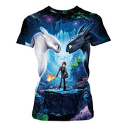 New toothless digital print summer sports T-shirt