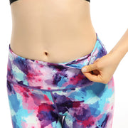 Fitness high waist printed pants Yoga Capris