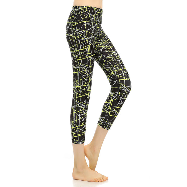 Europe and America new printing Yoga Pants fitness pants running pants 9 points