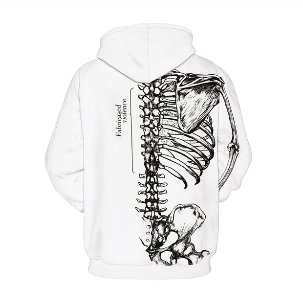 3D space suit digital printing and long sleeve hooded sweater fashion coat