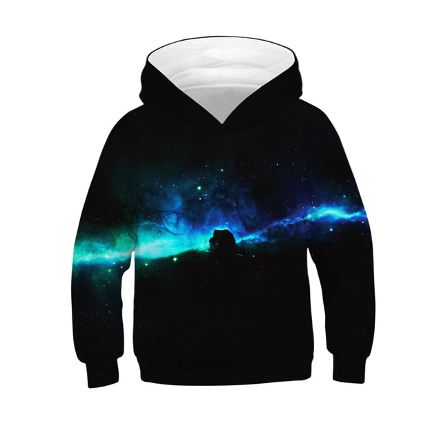 3D Star digital printing leisure long sleeve hooded bodysuit