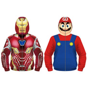 children's wear 3D iron man printed children's role-playing clothes zipper Hooded Sweater