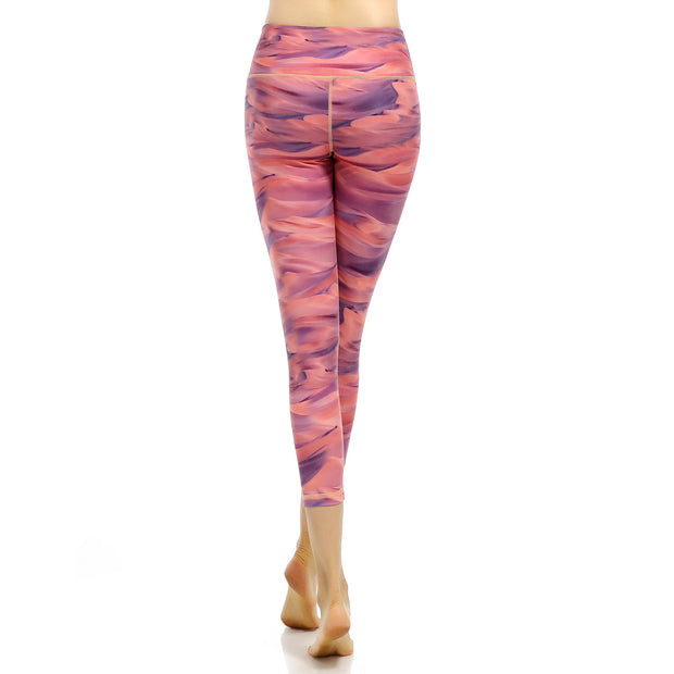 Printed sports running Yoga Pants Yoga high Stretch Leggings