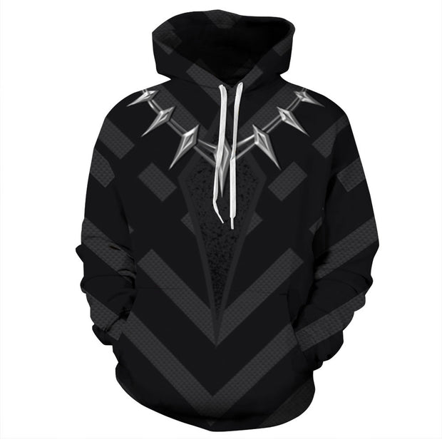2019 new Panther Rockie digital printing large hooded sports Pullover