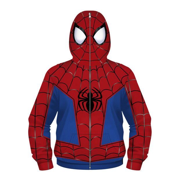 Children's sweater new 3D spider venom digital printing Hoodie role play clothes