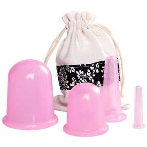 5pcs/Set Cellulite Removing Cups + Massager + Pore Vacuum Cleaning Pack | Complete Face and Body Set - Firming Slimming Facial Chiseling Detoxing [Immediate Results]
