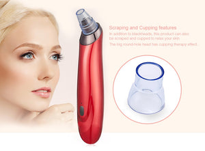 Blackhead + Whitehead Vacuum Facial Suction - High End Miracle Pore Minimizing + Acne Removing Machine