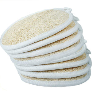 100% Natural Loofah Sponge - Double Sided (Exfoliates, Massages, Softens Skin)