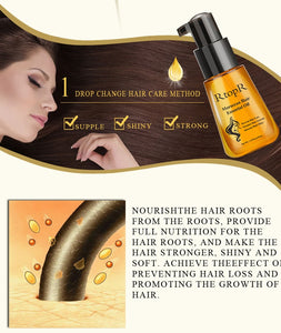 Moroccan Ginseng Argan Serum for Hair Repair + Hair Growth (Miracle Pump Serum)