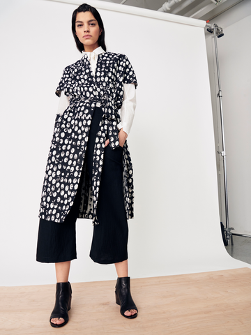 Hexagon Coat with Belt