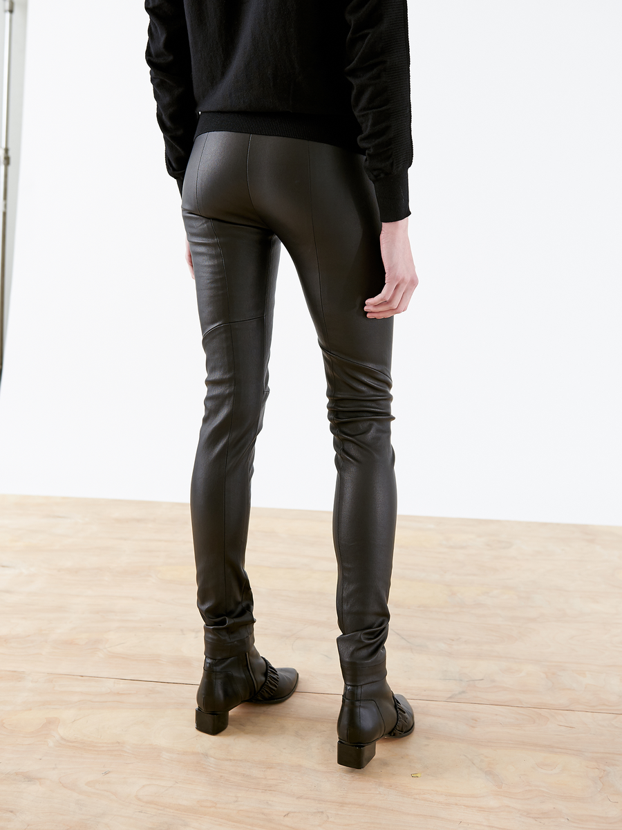 Leather One Seam Pant