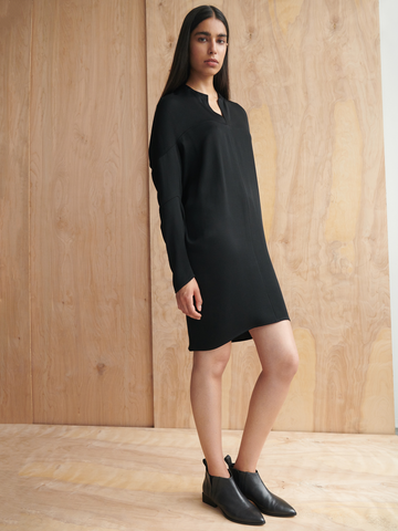 Long-Sleeved Hex Tunic Dress